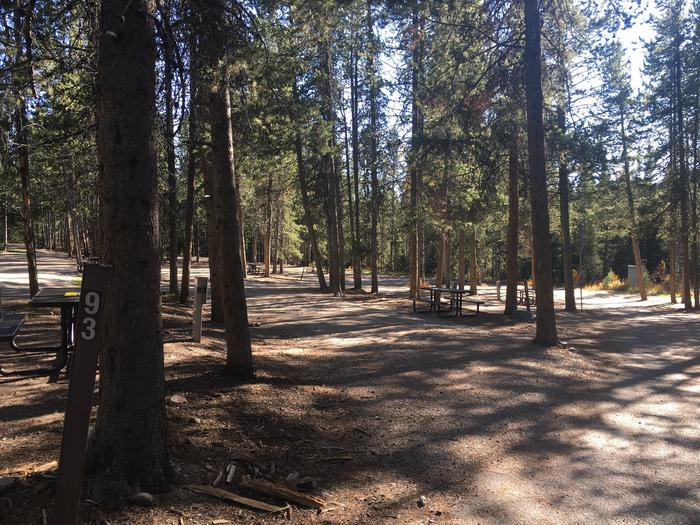 A photo of Site 93 of Loop L at Colter Bay RV Park with Full Hookup