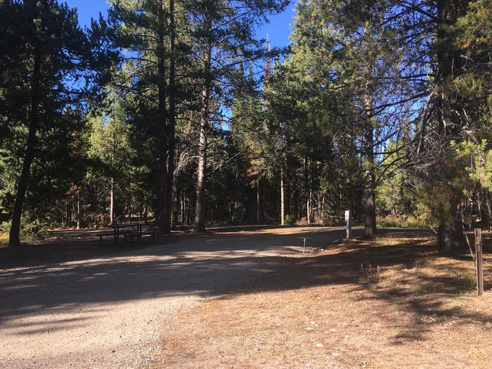 A photo of Site 88 of Loop L at Colter Bay RV Park with Full Hookup
