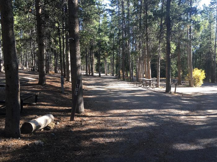 A photo of Site 108 of Loop O at Colter Bay RV Park with Full Hookup