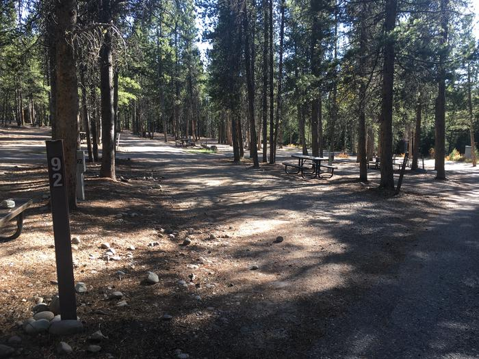 A photo of Site 92 of Loop L at Colter Bay RV Park with Full Hookup