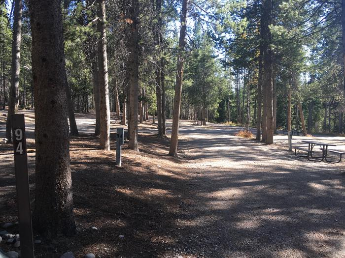 A photo of Site 94 of Loop L at Colter Bay RV Park with Full Hookup