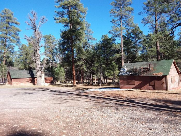 Long Valley Work Center Campground: group site structuresLong Valley Group CG