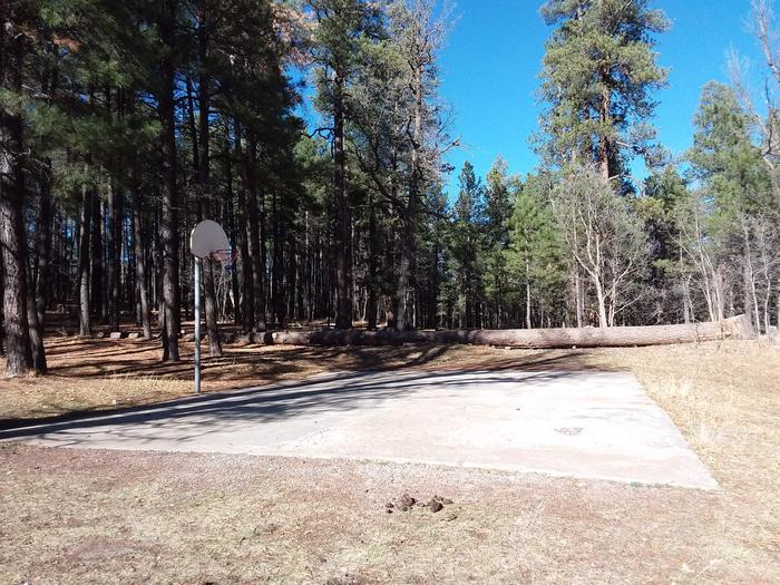 Long Valley Work Center Campground: group site basketball courtLong Valley Group CG