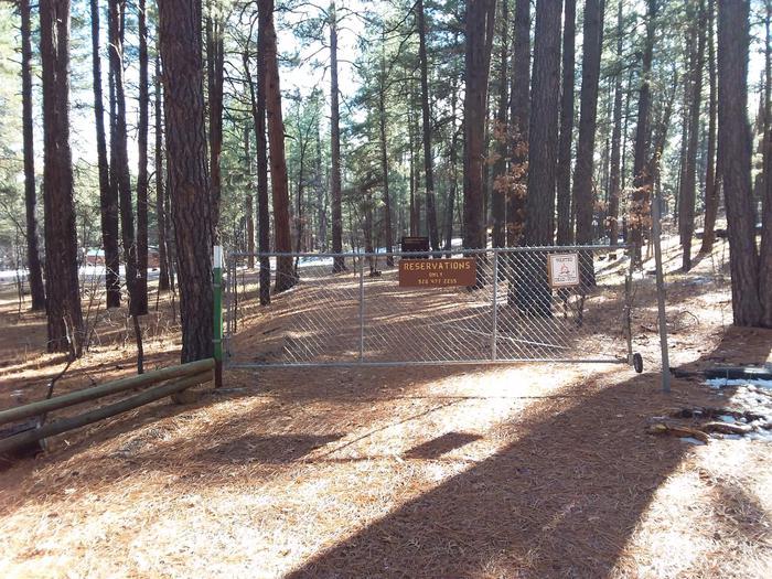 Long Valley Work Center Campground Gate EntranceLong Valley Group CG