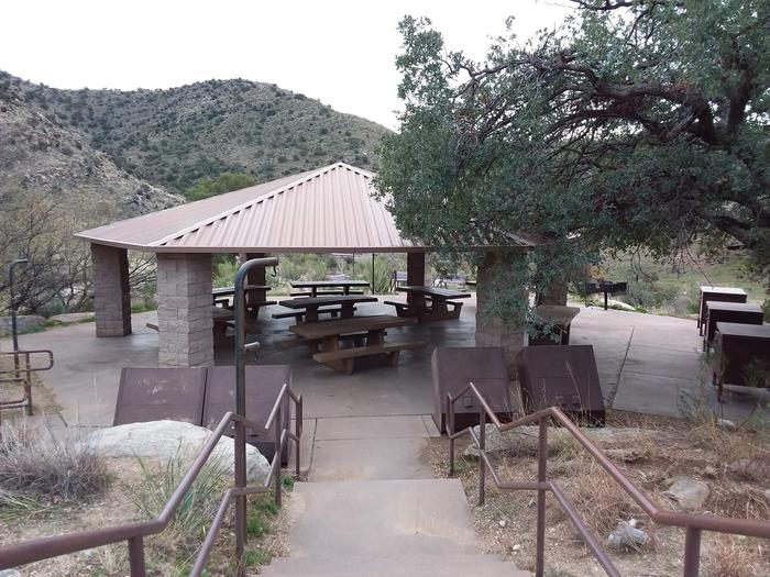 Sheltered group picnic area