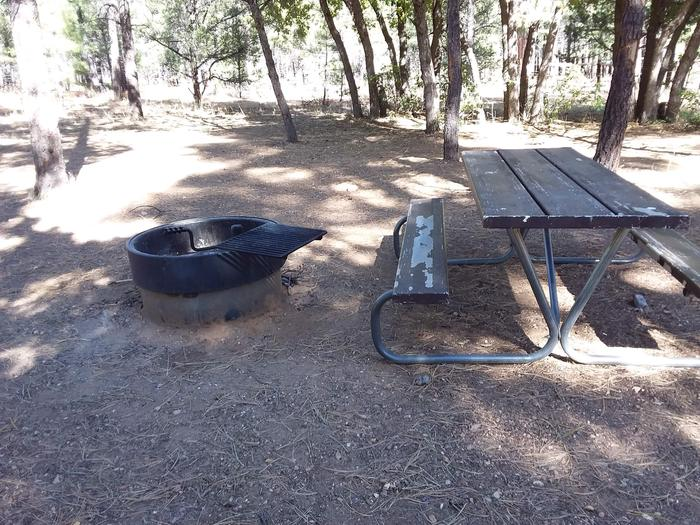 Moenkopi Loop Site 49 picnic table and fire pit