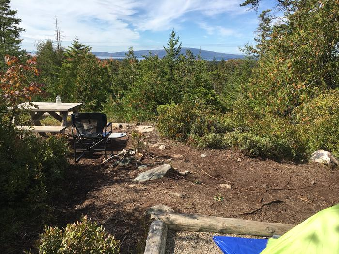 A photo of Site H02 of Loop Hike-In at Schoodic Woods Campground with Picnic Table, Shade, Tent Pad