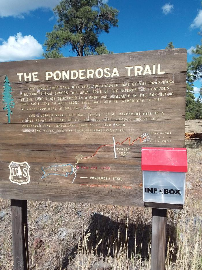 Sign for the Ponderosa Trail