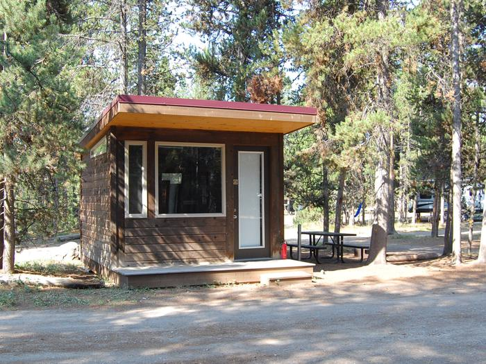 Camper Cabin Site 605 Exterior