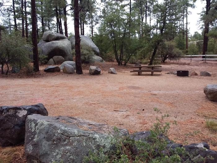 Site 2 with large stones and impressive bouldersCampsite 2