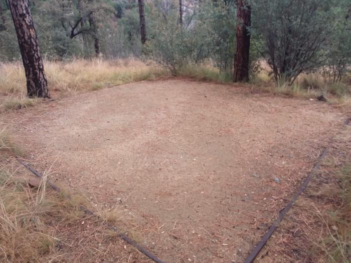 Hilltop Campground Loop B Site 14: tent pad Hilltop Campground Loop B Site 14
