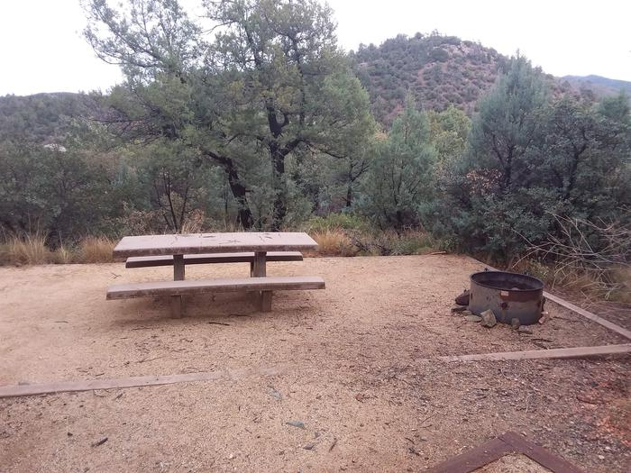 Hilltop Campground Loop C Site 27: table, fire pit Hilltop Campground Loop C Site 27