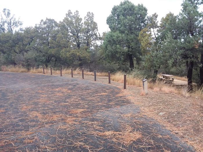 Hilltop Campground Loop C Site 27: road accessHilltop Campground Loop C Site 27