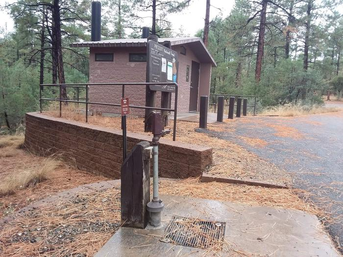 Lynx Campground Water Source Next to Restrooms On SiteLynx Campground