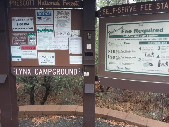 Lynx Campground Self-Pay KioskLynx Campground