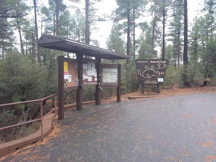 Lynx Campground Information KioskLynx Campground