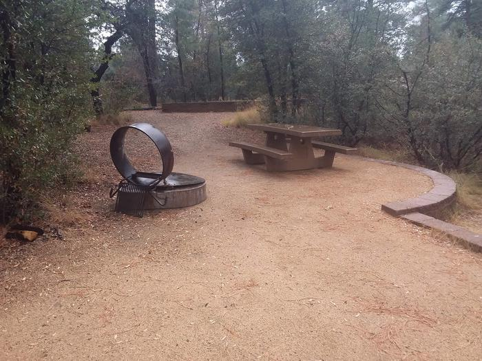 Lynx Campground Loop B Site 008: table and fire pitLynx Campground Loop B Site 008