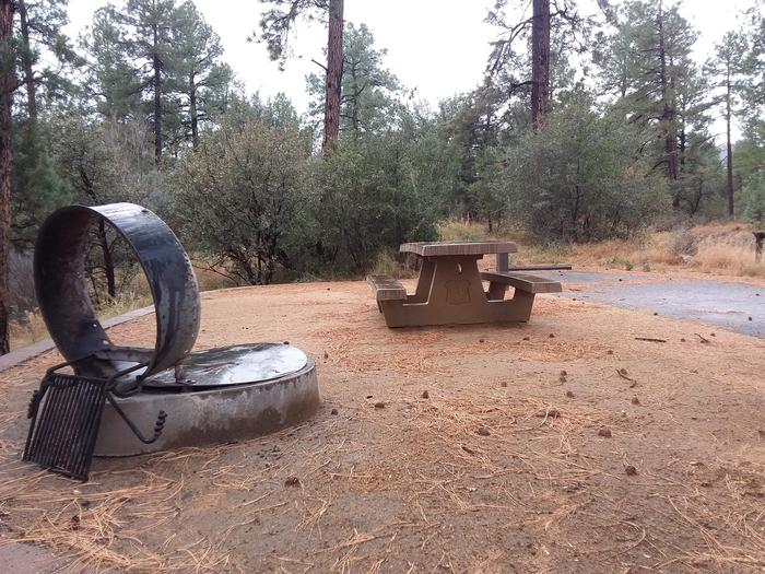 Lynx Campground Loop F Site 024: table and fire pit Lynx Campground Loop F Site 024