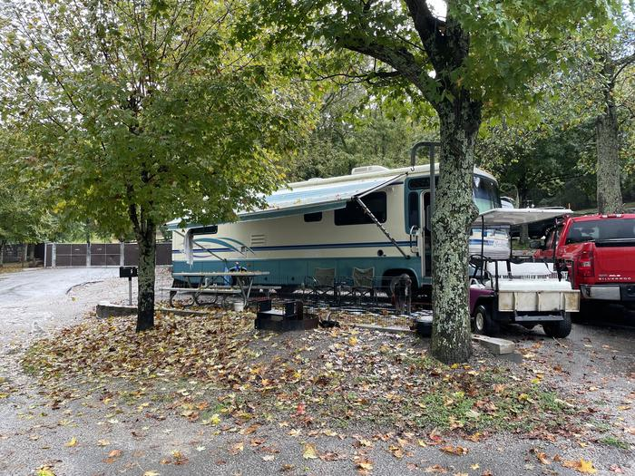 A photo of Site 039 of Loop TCLP at FLOATING MILL PARK with Picnic Table, Electricity Hookup, Water Hookup