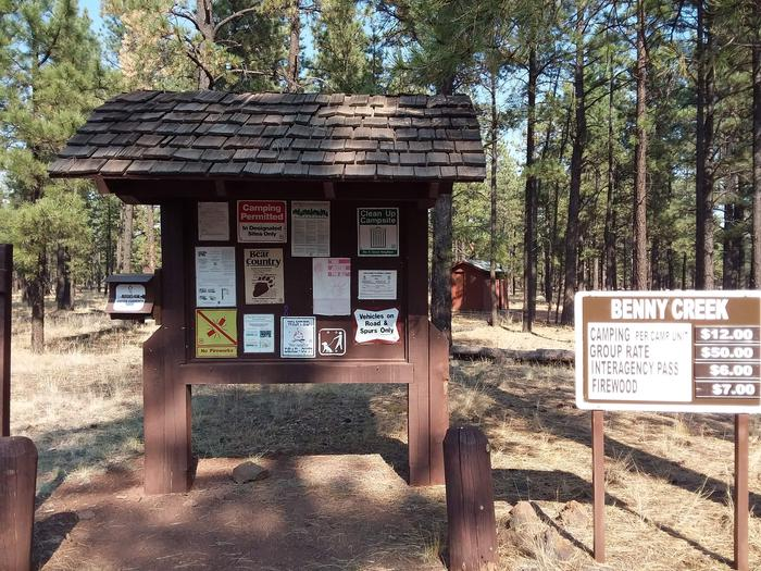 Benny Creek Campground Fee/General Information KioskBenny Creek Campground