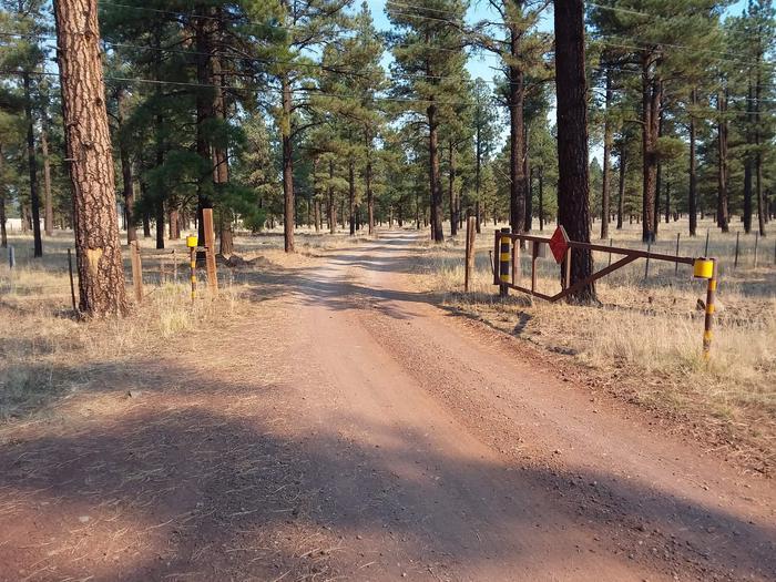 Benny Creek Group Area Gate EntranceBenny Creek Campground Group Area