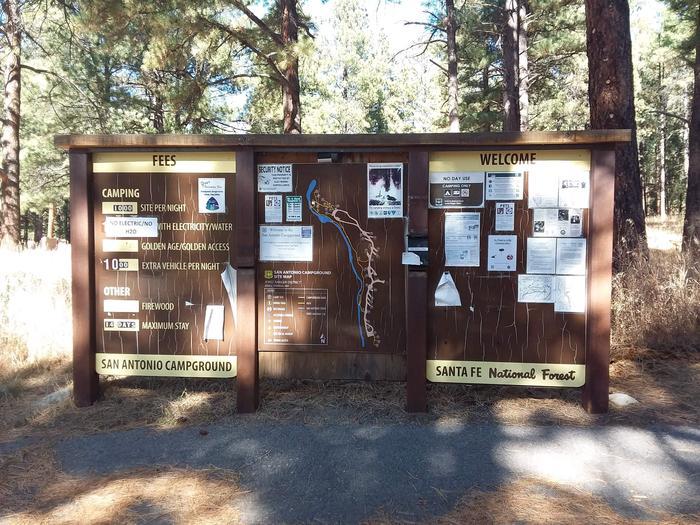 San Antonio Campground information board