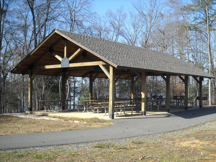 King's Mountain Point Picnic Pavilion on Badin Lake on the Uwharrie National ForestRent the picnic shelter for your event for just $50 for the whole day.