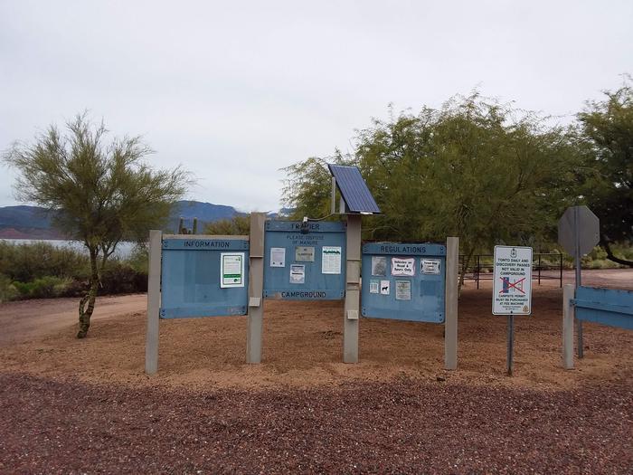 Frazier Campground Info board
