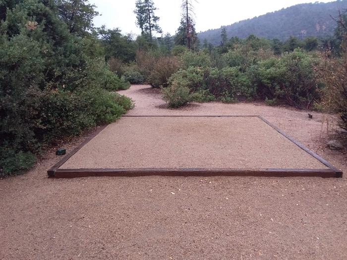 Yavapai Campsite 14  designated space for tent placement with a mountain view