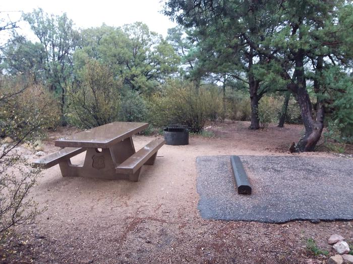 Yavapai Campsite 15 picnic table and fire ring