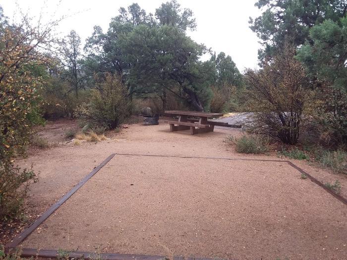 Yavapai Campsite 15 designated space for tent placement