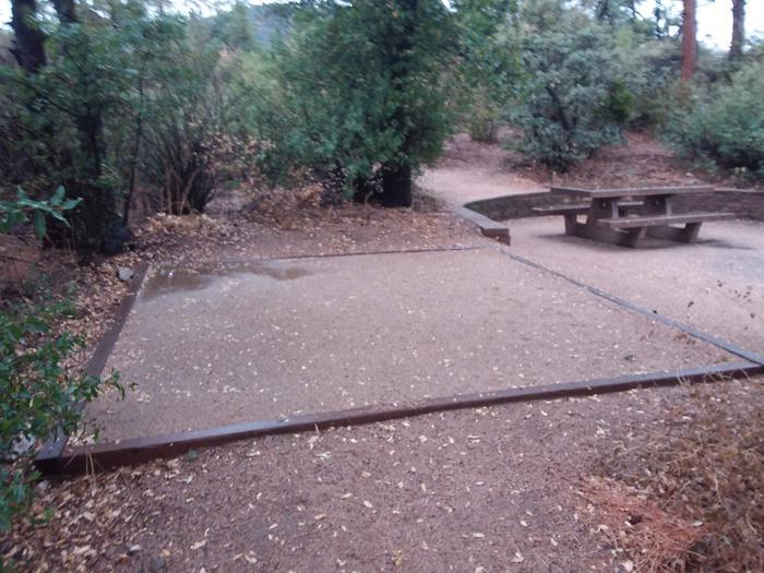 Yavapai Campsite 21 designated space for tent placement