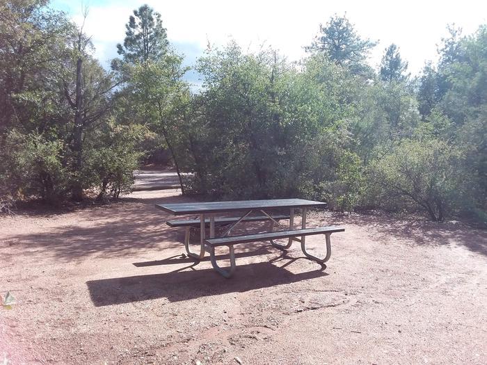 Houston Mesa, Mountain Lion Loop site #08 tableHouston Mesa, Mountain Lion Loop site #08