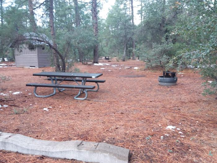 Timber Camp Rec. Area And Group CG - Site 13 - table, fire pit with quick access to restroomsTimber Camp Rec. Area And Group CG - Site 13