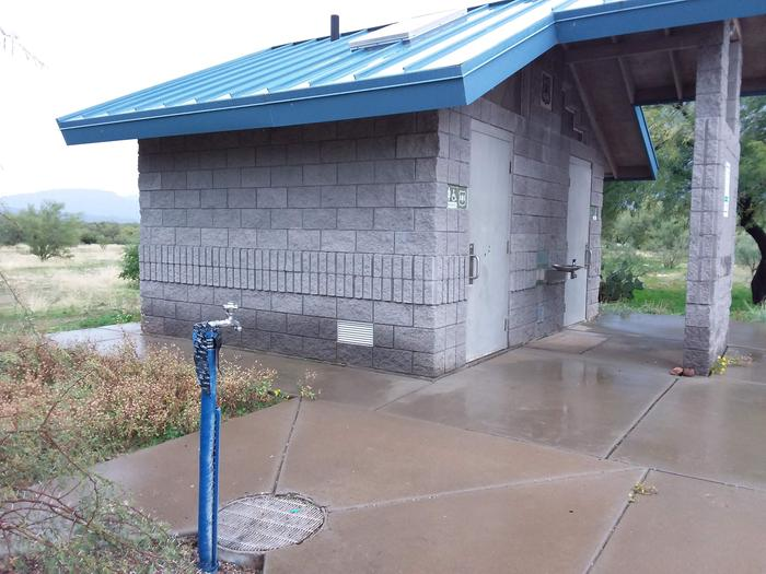Schoolhouse Campground Restrooms and Water Spigot