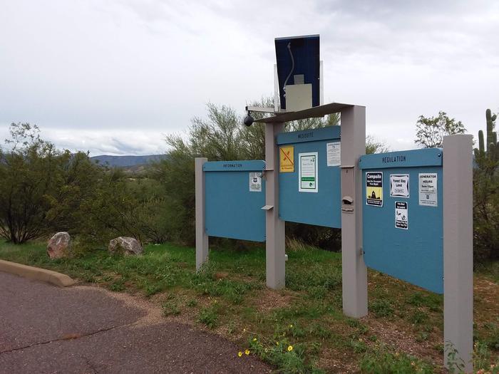 Schoolhouse Campground Information Kiosk