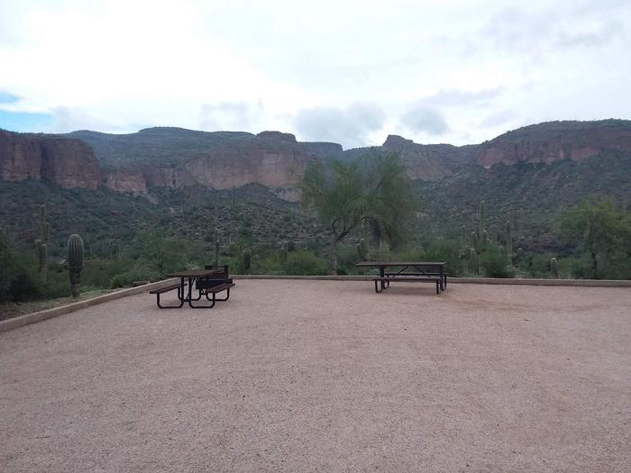 Tortilla Campground Site 35: table, fire pit, and a great viewTortilla Campground Site 35