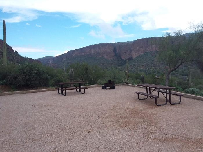 Tortilla Campground Site 35: table, fire pit, and more of the great viewTortilla Campground Site 35