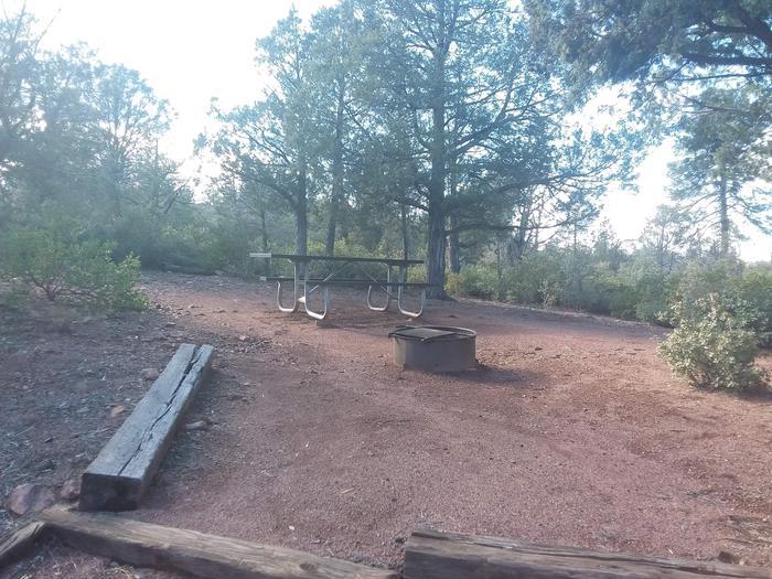 Houston Mesa, Horse Camp site #20 picnic area and fire pit.Houston Mesa, Horse Camp site #20
