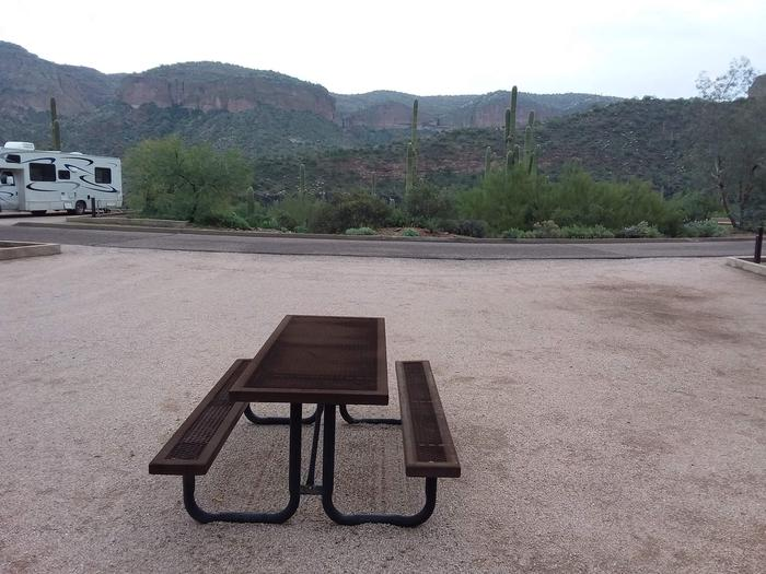 Tortilla Campground Site 39: photo from table displaying viewTortilla Campground Site 39