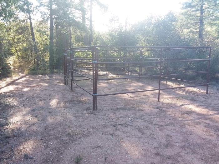 Houston Mesa, Horse Camp site #27 horse corral.Houston Mesa, Horse Camp site #27
