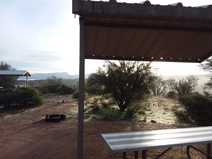 Windy Hill Campground Coati Site 004: shade structure and a viewWindy Hill Campground Coati Site 004