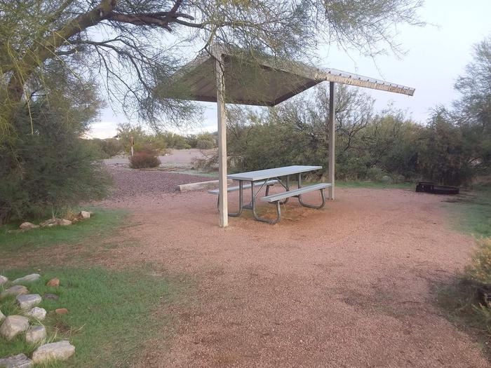Windy Hill Campground Coati Site 029: shade structure, table, fire pitWindy Hill Campground Coati Site 029