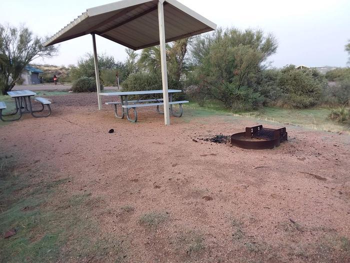 Windy Hill Campground Coati Site 035: shade structure, table, fire pitWindy Hill Campground Coati Site 035