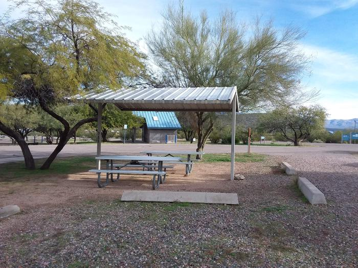 Windy Hill Campground Coyote Site 311: shade structure, tables, fire pit Windy Hill Campground Coyote Site 311