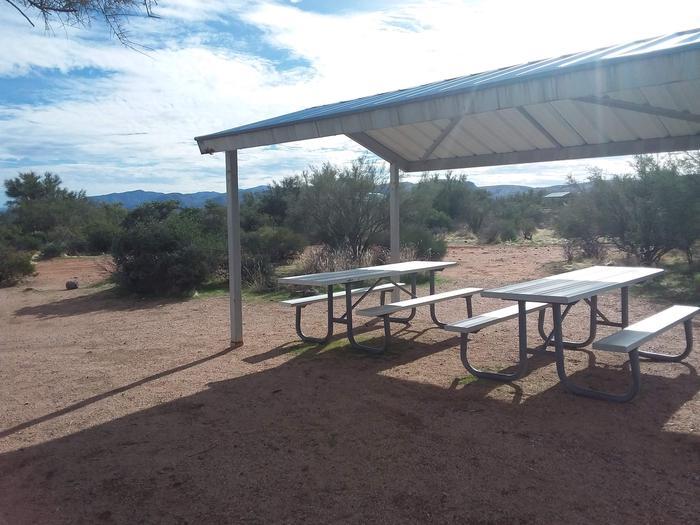 Site 24 picnic tables.