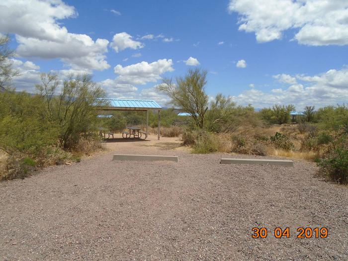 Campsite 27 at Cholla Campground parking area.