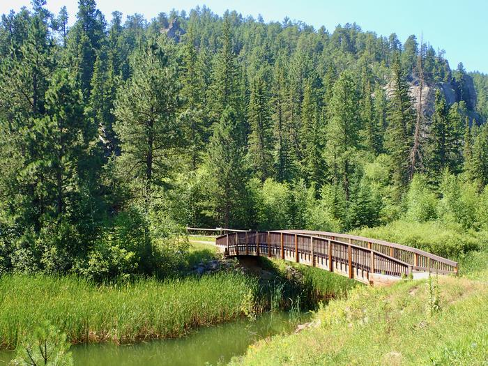 Bridge leading from Day Use area to Campground