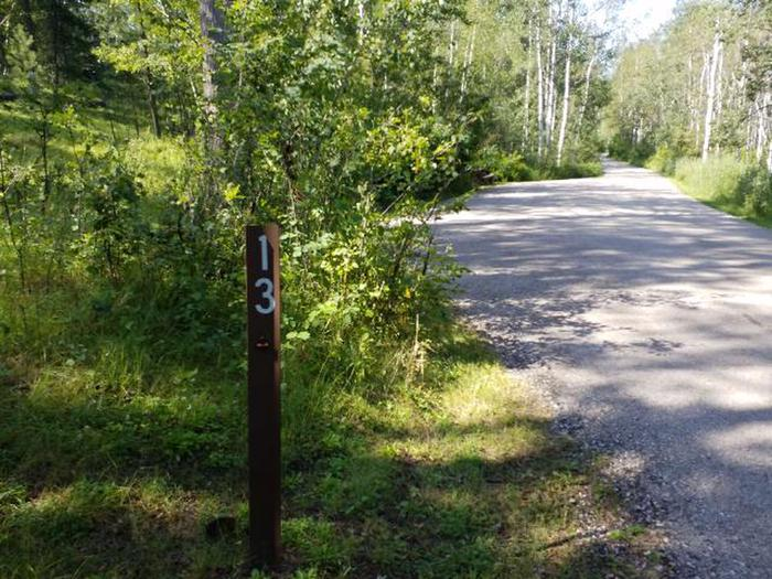 Road in paved in campground while most site are gravel pads