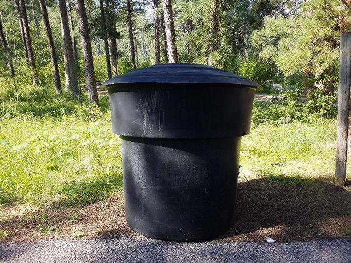 Trash Cans on site
